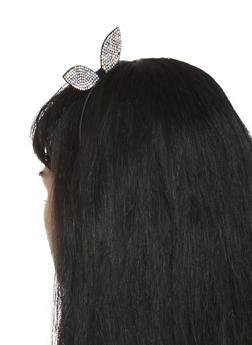 Rhinestone Bunny Ear Headband - 3131063092329
