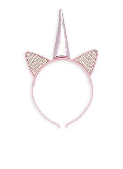 Rhinestone Unicorn Headband - 3131063092553