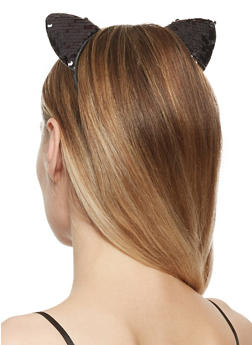 Reversible Sequin Cat Ear Headband - 3131063092691