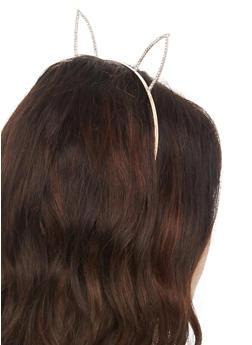 Rhinestone Bunny Ear Headband - 3131063095124