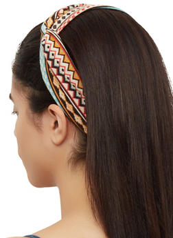Tribal Print Knit Head Wrap - 3131063099844
