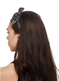 Bandana Print Head Wrap   3131067252885 - Black - 3131067252885