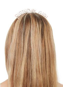 Rhinestone Birthday Girl Headband | 3131074171247 - 3131074171247