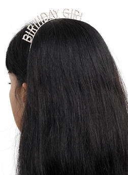 Birthday Girl Rhinestone Headband - 3131074172372