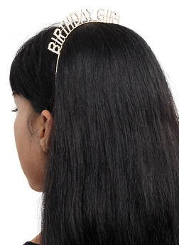 Birthday Girl Rhinestone Headband - 3131074172372