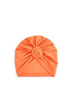 Knot Front Neon Turban Head Wrap - 3131074174413