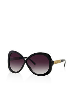 Criss Cross Plastic Sunglasses - 3133004261325