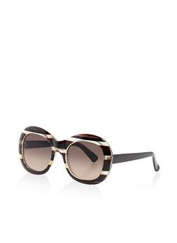 Oval Plastic Sunglasses - 3133004263994