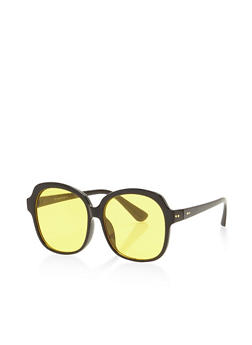 Thick Frame Colored Sunglasses - 3133004264605