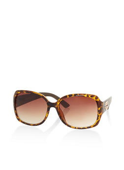Printed Arm Detail Sunglasses - 3133004264818