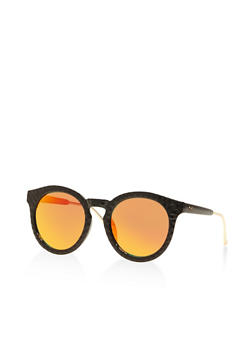 Mirrored Round Sunglasses - 3133004264904
