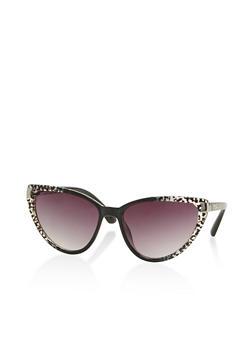 Two Tone Cat Eye Sunglasses - 3133004264984