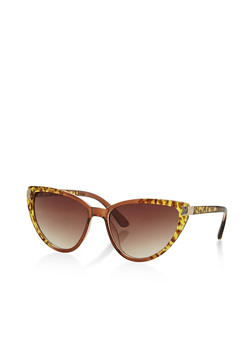Two Tone Cat Eye Sunglasses - 3133004264984