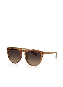 Top Bar Matte Frame Sunglasses - 3133004265136