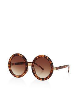 Round Metallic Bridge Sunglasses - 3133004265450