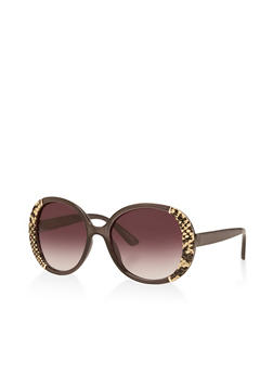 Snake Print Detail Sunglasses - 3133004265458