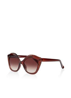 Rhinestone Studded Sunglasses - 3133004265527