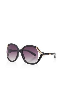Metallic Twist Detail Sunglasses - 3133004266600