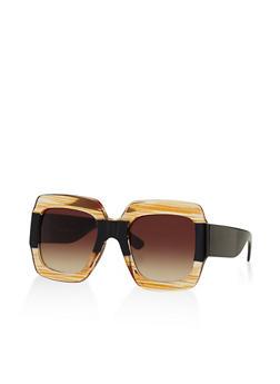 Large Square Plastic Sunglasses - 3133004267715