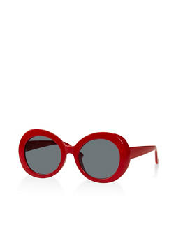 Plastic Oval Sunglasses - 3133056174046