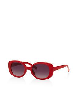 Small Oval Plastic Sunglasses - 3133056174389