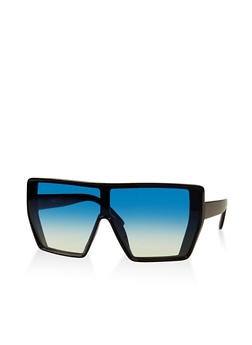 Plastic Colored Shield Sunglasses - 3133056175021