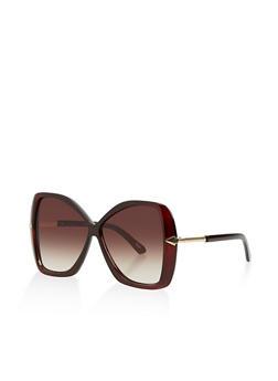 Metallic Arrow Detail Sunglasses - 3133056177480