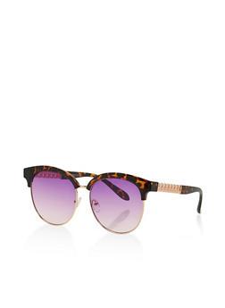 Chain Link Detail Sunglasses - 3133071210299