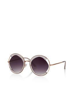 Circular Mixed Frame Sunglasses - 3133071219918