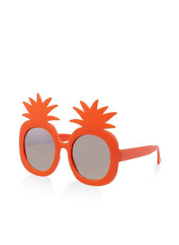 Plastic Pineapple Round Sunglasses - 3133071220381
