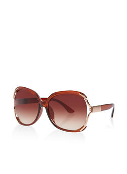 Open Side Plastic Sunglasses - 3133071222605