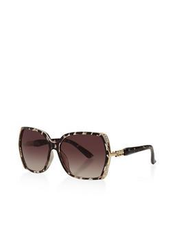 Rhinestone Detail Sunglasses - 3133071222734