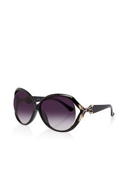 Bow Arm Detail Sunglasses - 3133071224305