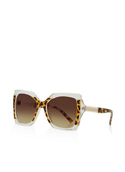 Chain Link Insert Sunglasses - 3133071226912