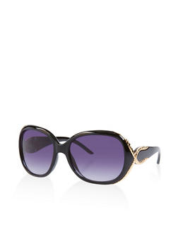 Metallic Trim Sunglasses - 3133073210002