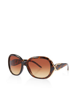 Metallic Trim Sunglasses - 3133073210002