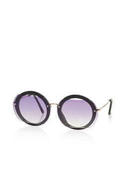 Round Cut Out Sunglasses - 3133073210503
