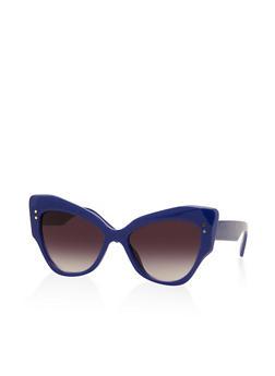 Colored Cat Eye Plastic Sunglasses - 3133073213333
