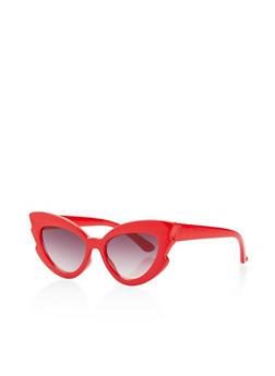 Plastic Cat Eye Sunglasses - 3133073213366