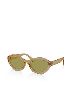 Plastic Geometric Colored Sunglasses - 3133073213367