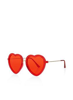 Heart Colored Sunglasses - 3133073214445