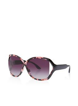 Criss Cross Plastic Sunglasses - 3133073214455