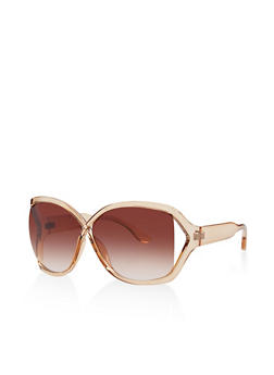 Criss Cross Plastic Sunglasses - 3133073214455