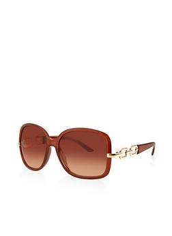 Chain Link Detail Sunglasses - 3133073216892