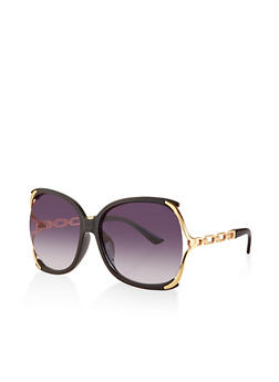 Open Side Chain Link Temple Sunglasses - 3133073219784