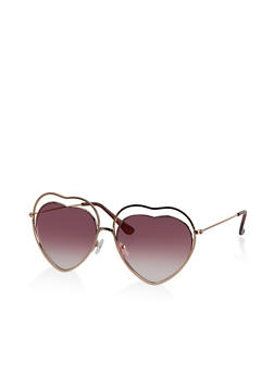 Heart Double Frame Sunglasses - 3133073219971