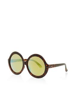Round Oversized Sunglasses - 3133073921749