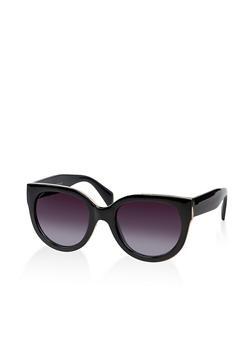 Metallic Trim Two Tone Sunglasses - 3133073922103