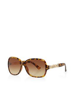 Rhinestone Detail Sunglasses - 3133073929700