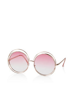 Circular Double Wire Frame Sunglasses - 3134004261032